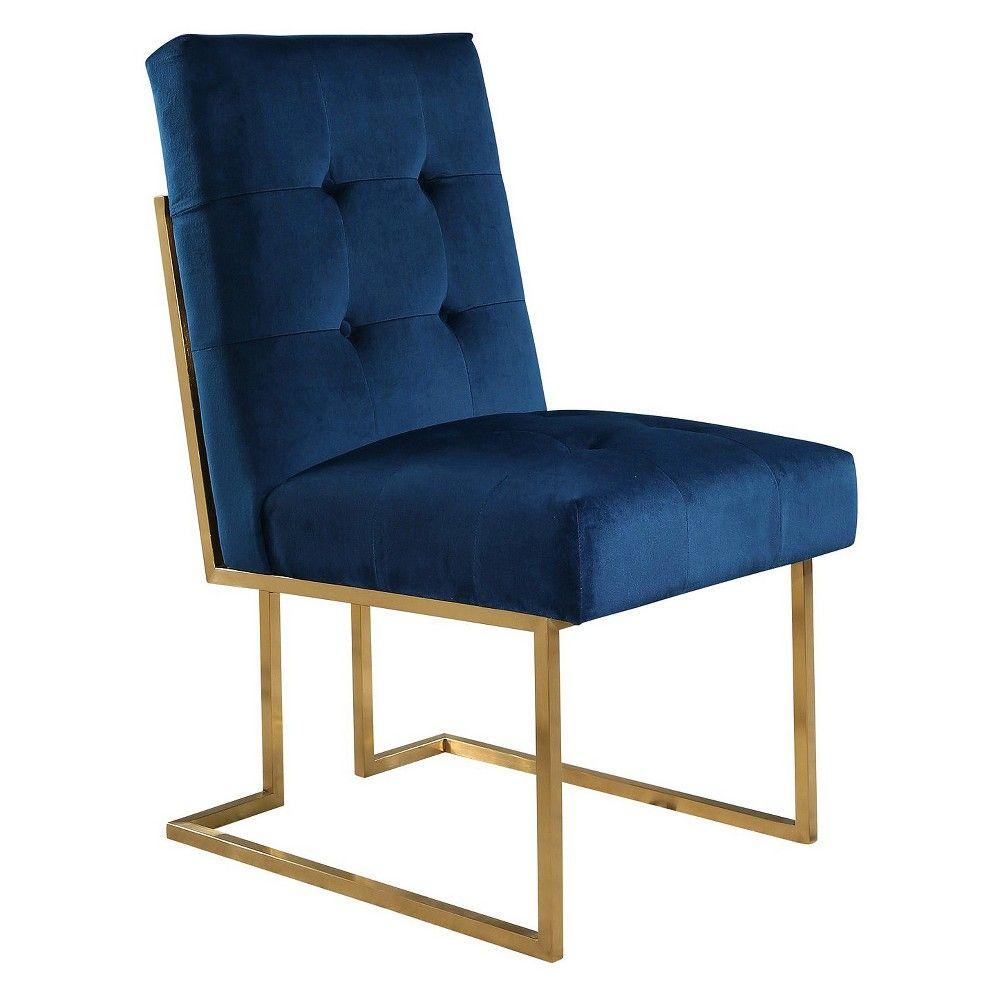 Sensational 27 Nieve Velvet Dining Chair Navy Blue Abbyson In 2019 Ibusinesslaw Wood Chair Design Ideas Ibusinesslaworg