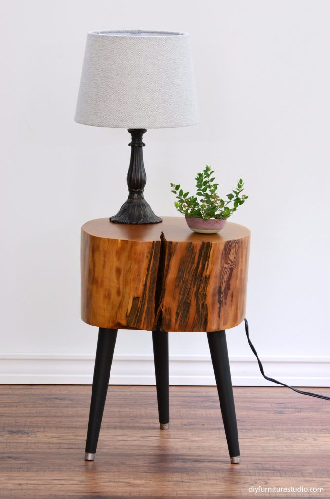 Diy Live Edge Side Table With Three Diy Furniture Leg Options In 2020 Unique Wood Furniture Diy Furniture Diy Wood Projects Furniture