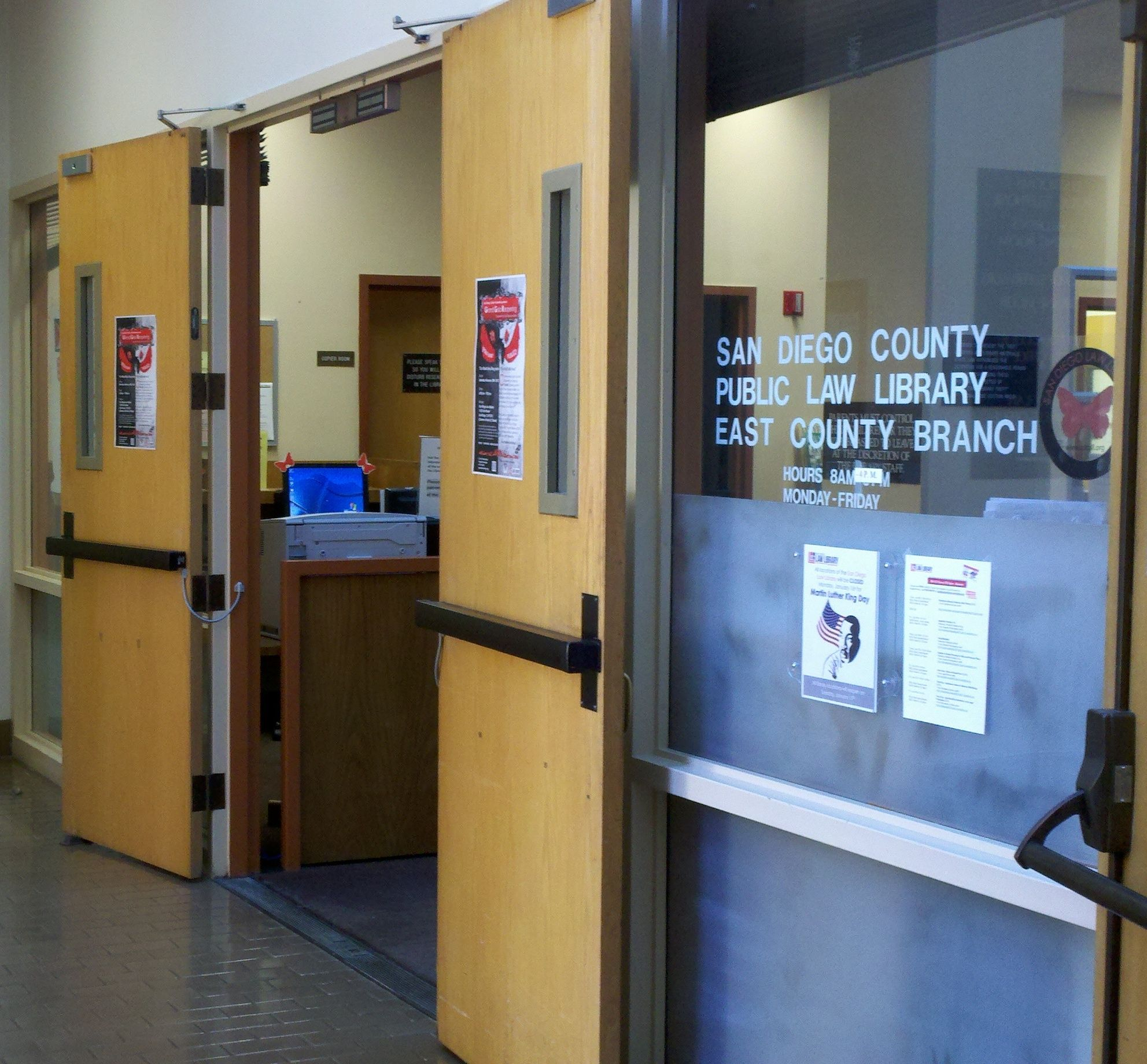 San Diego Law Library East County Branch California