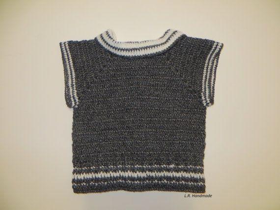 Chaleco niños del ganchillo chaleco del suéter de por ladybird113