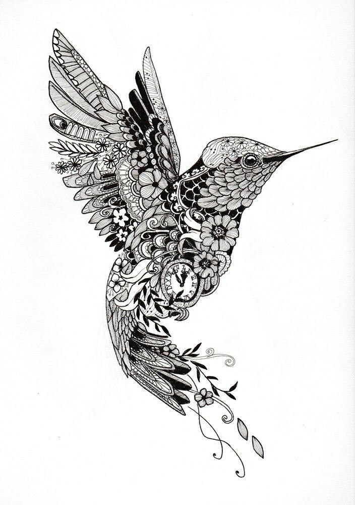 Afbeeldingsresultaat Voor Hummingbird Tattoo