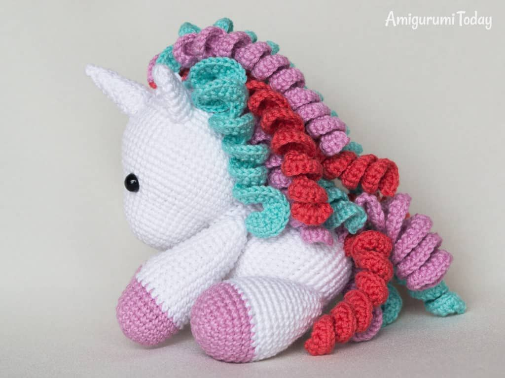 PATRONES GRATIS DE CROCHET: AMIGURUMI UNICORNIO a crochet ... | 768x1024