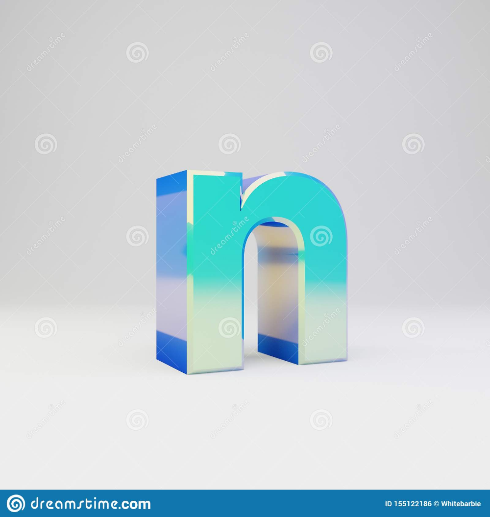 Sky Blue 3d Letter N Lowercase Metal Font With Glossy Reflections And Shadow Isolated On White Background Stock Illustrat Metal Font White Background Blue Sky