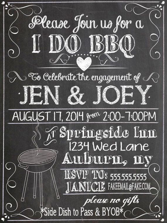 black and white i do bbq invites, unique b&w i do bbq invitations, modern i do bbq party decor, engagement party ideas ID# INVIDO01