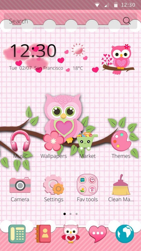 Free cute owls theme for android free android themes sweet best free android cute owls theme is available for your samsung huawei sony and more make your android phone and tablet unique with cute owls themes voltagebd Choice Image