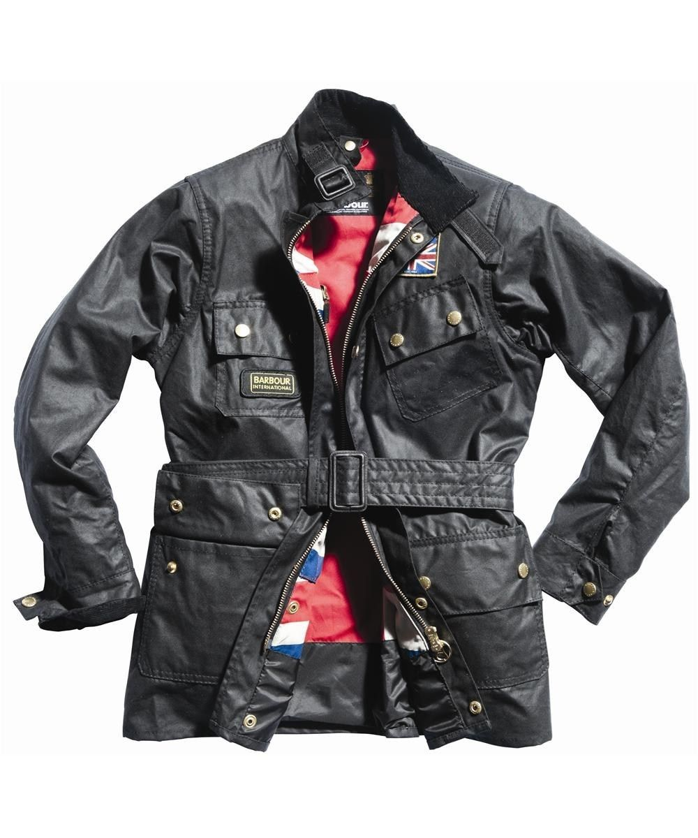 get cheap wholesale sales classic Boys Barbour Union Jack International Waxed Jacket | Fashion ...