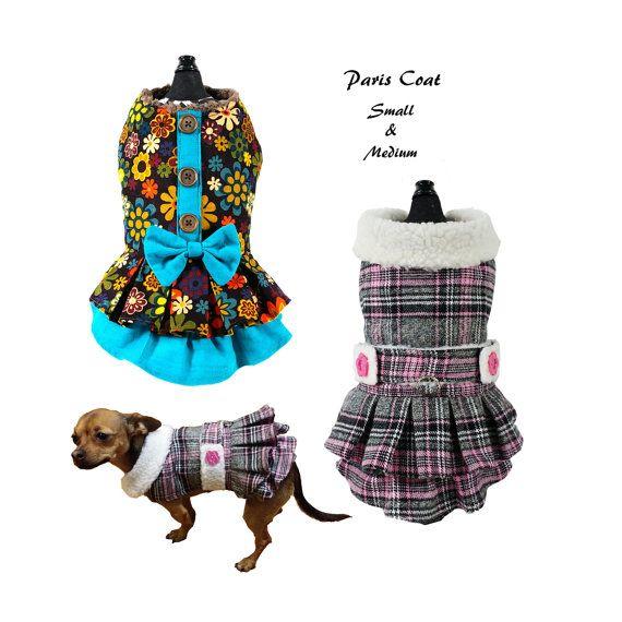 Paris Coat-SMALL & MEDIUM- Sewing Pattern PDF, Dog Clothes Pattern ...