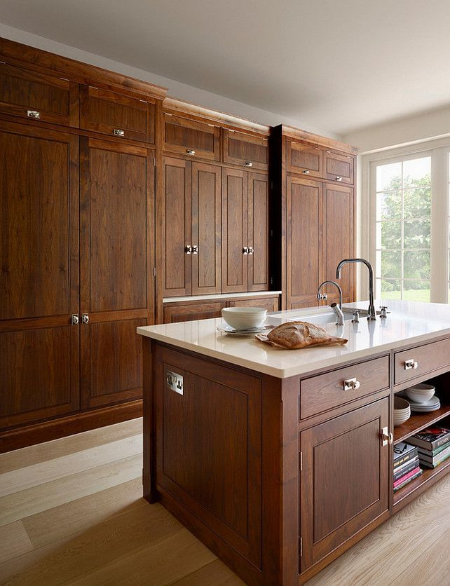 The Spenlow Kitchen Design Features A Mix Of Painted Solid Wooden Cabinetry Finished In Farrow Ball Slipper Satin And American Black Wal Walnut Kitchen Walnut Kitchen Cabinets New Kitchen Cabinets