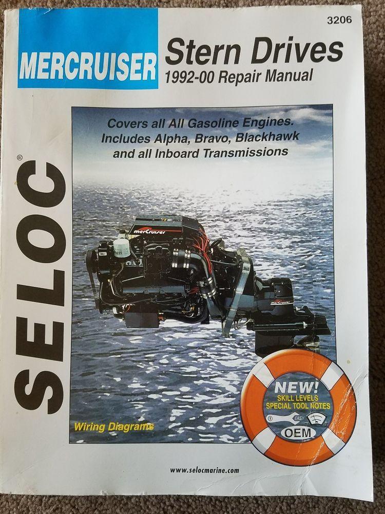 seloc service manual mercruiser sterndrive 1992 2000 no 3206 rh pinterest com Mercruiser Manual 250 4.5 1992 mercruiser 4.3 service manual