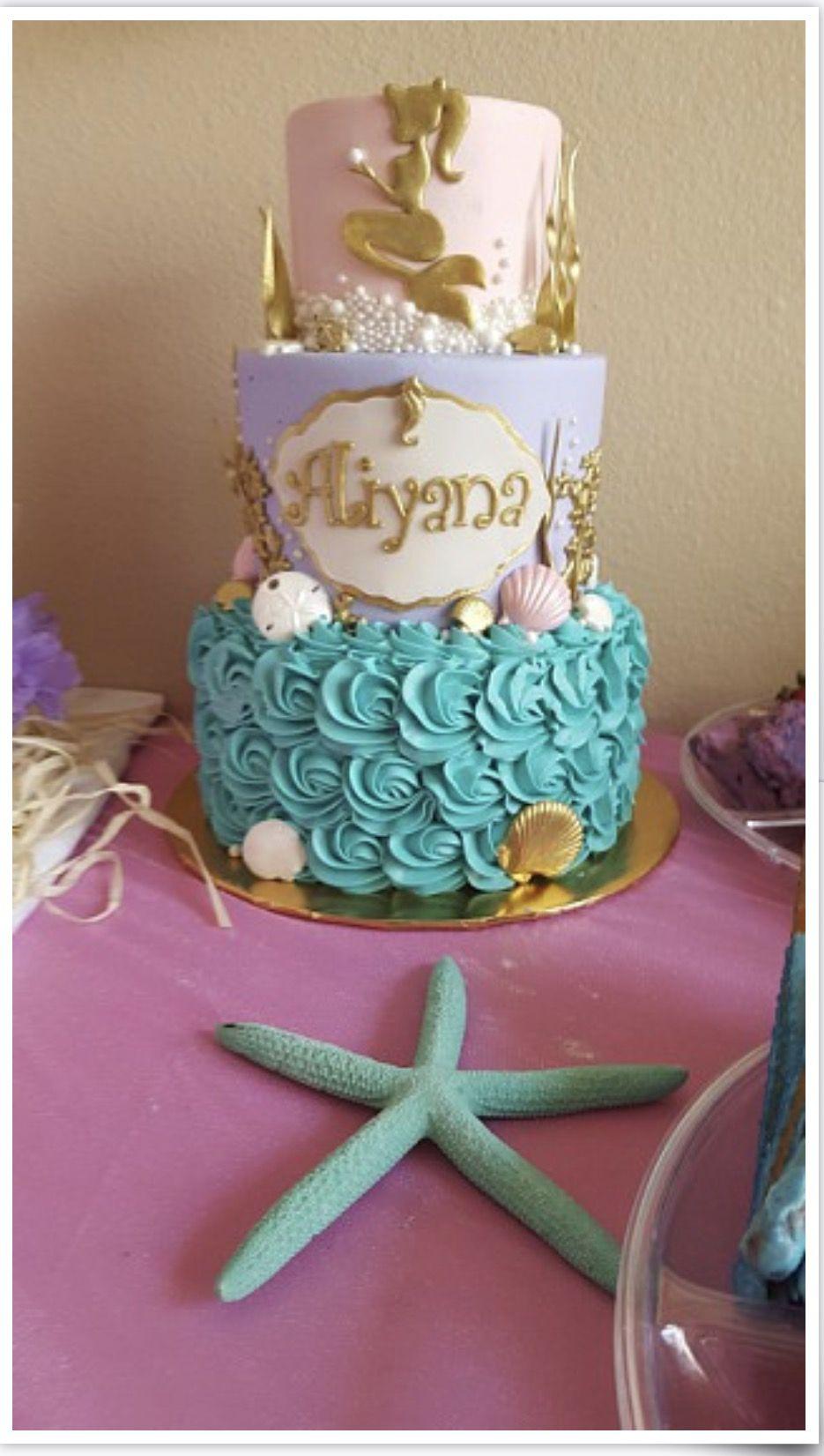 Little Mermaid Baby Shower Cake