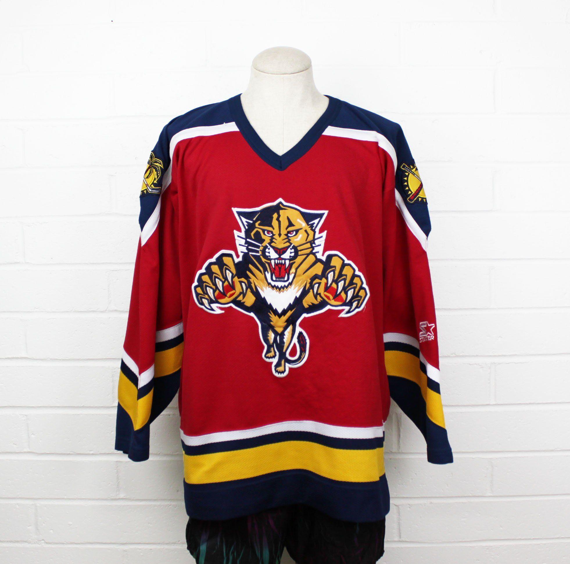 sports shoes e5209 1468b Vintage 90s Florida Panthers Hockey Jersey by Starter large ...