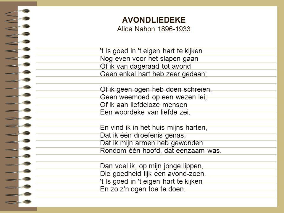 Wonderbaarlijk gedicht alice nahon het is goed in eigen hart te kijken - Google HH-36