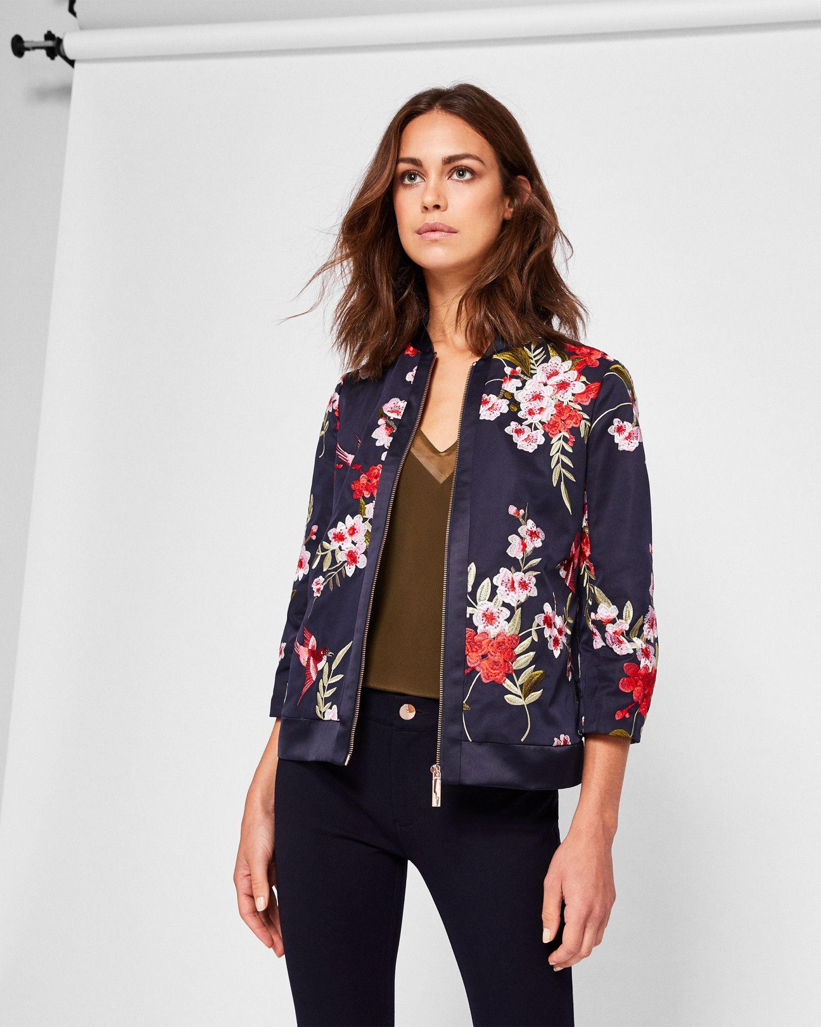 Hemma Bird And Blossom Bomber Jacket Tedtotoe Jacket Outfit Women Bomber Jacket Women Bomber Outfit [ 2000 x 1599 Pixel ]
