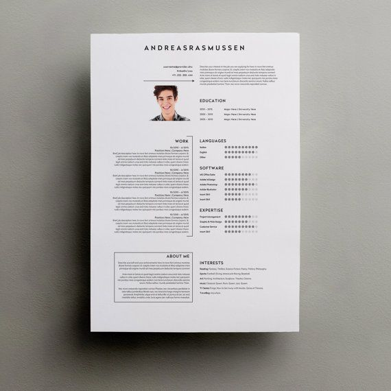 Resume Template Word Modern Resume Template by TypeMatters on Etsy - word resume template mac
