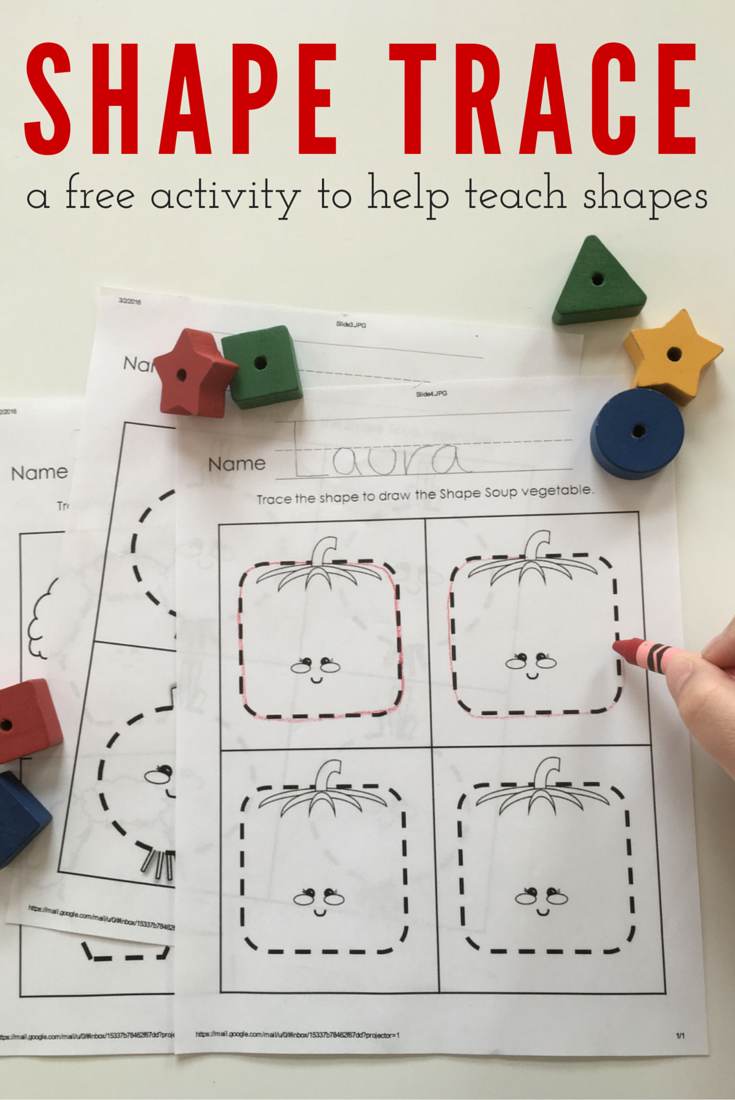 Free printable tracing worksheets to help teach basic shapes. Shapes  included: Circle, Hexagon