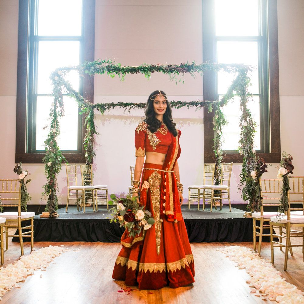 Wedding Hairstyle Nashville: Vaishali + Daniel: Traditional Indian Wedding