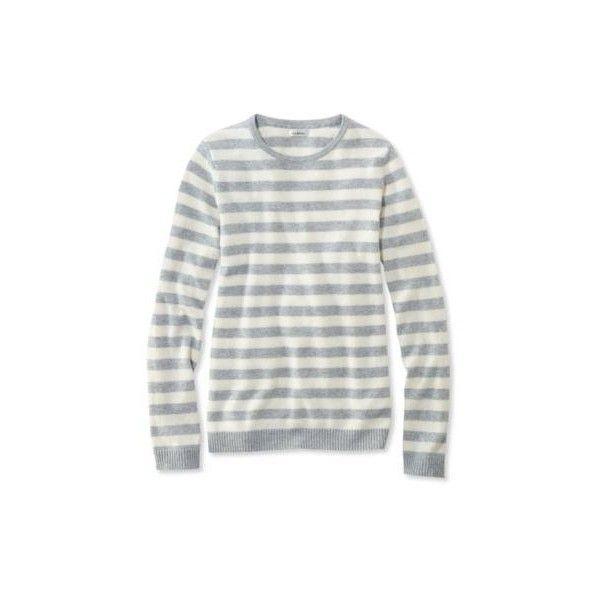 L.L.Bean Classic Cashmere Sweater, Crewneck Stripe Misses Petite ...