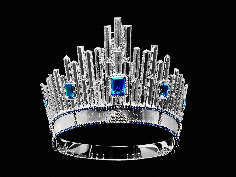 La Couronne ISLA - diadme de cristal de Quartz ange Aura