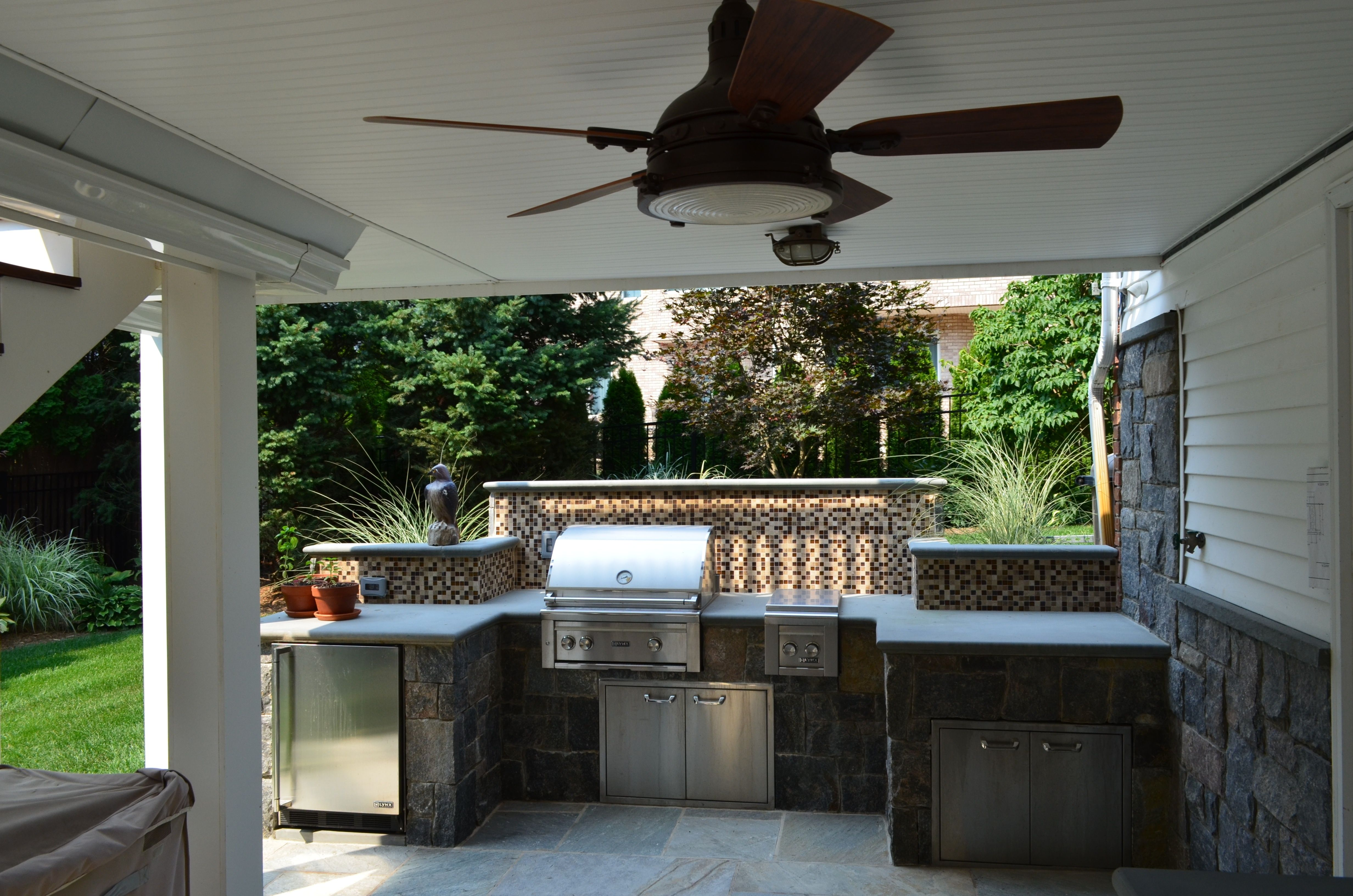 BEST Mesmerizing Outdoor Kitchen Designs And Painti Wonderful backyard kitchen designs photos Kitchen Design
