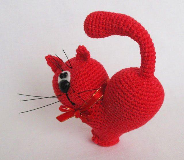 Valentine\'s Day Cat crochet pattern | Patrón de ganchillo, San ...