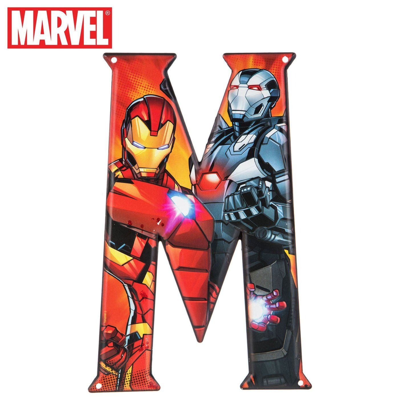 Superhero Letter Metal Wall Decor Marvel And Dc Comic