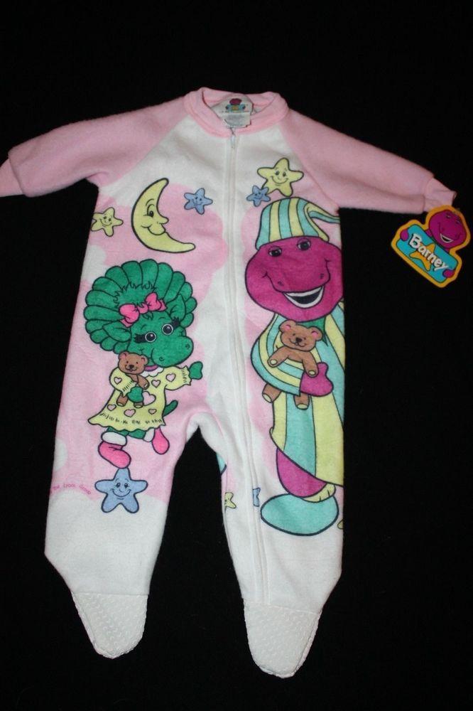 Barney The Purple Dinosaur Baby Sleeper Pajamas Infant 6 12 Months Nwt S Girls