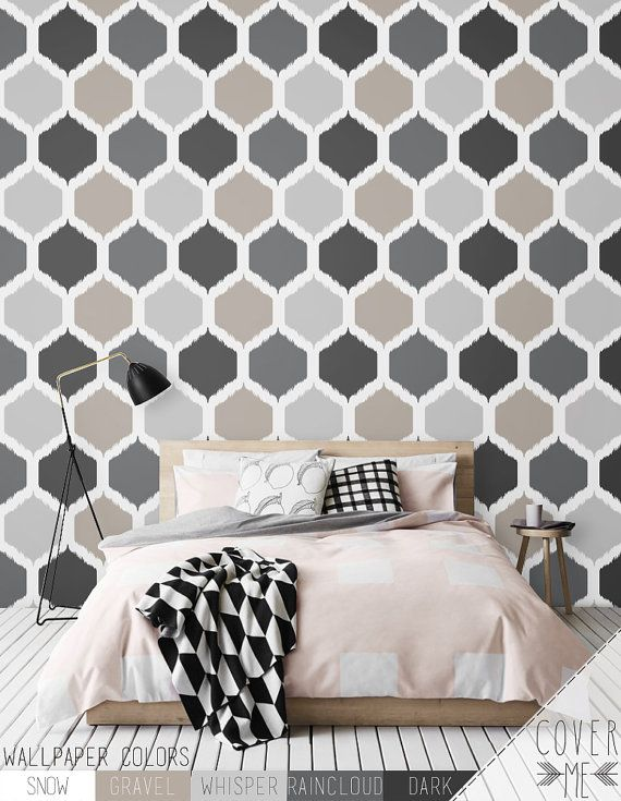 Honeycomb Pattern Wallpaper Simple Removable Wallpaper Etsy Pattern Wallpaper Vinyl Wallpaper Nursery Wall Murals