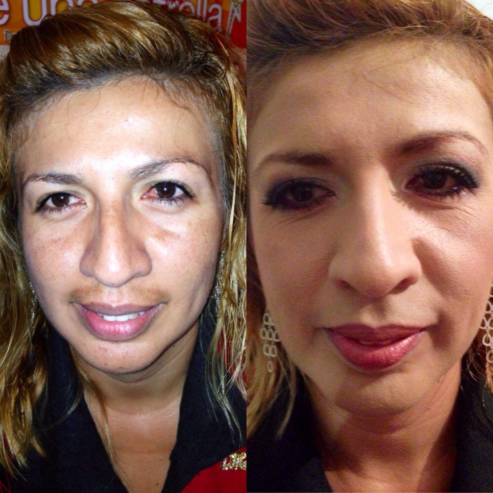 Sin maquillaje - Con maquillaje   Utilizando productos Mary Kay   Aparta tu cita www.marykay.com.mx/glomarole  #marykaytepic
