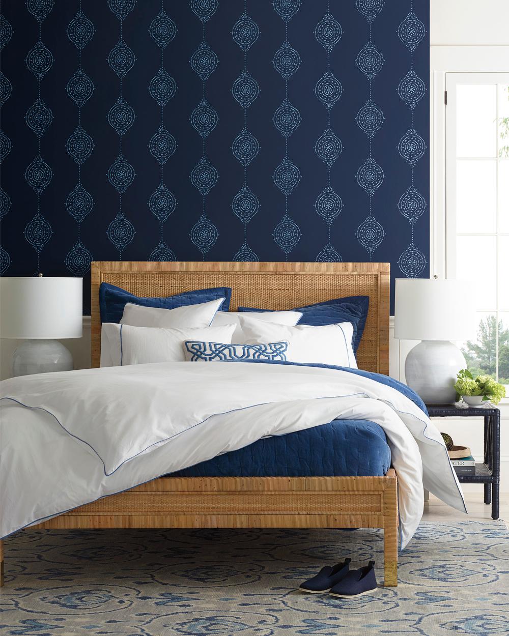Striped Wallpaper, Bedroom Sitting