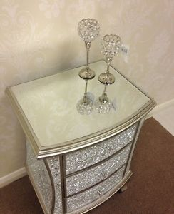 PAIR OF MODERN Glam Silver Crackle