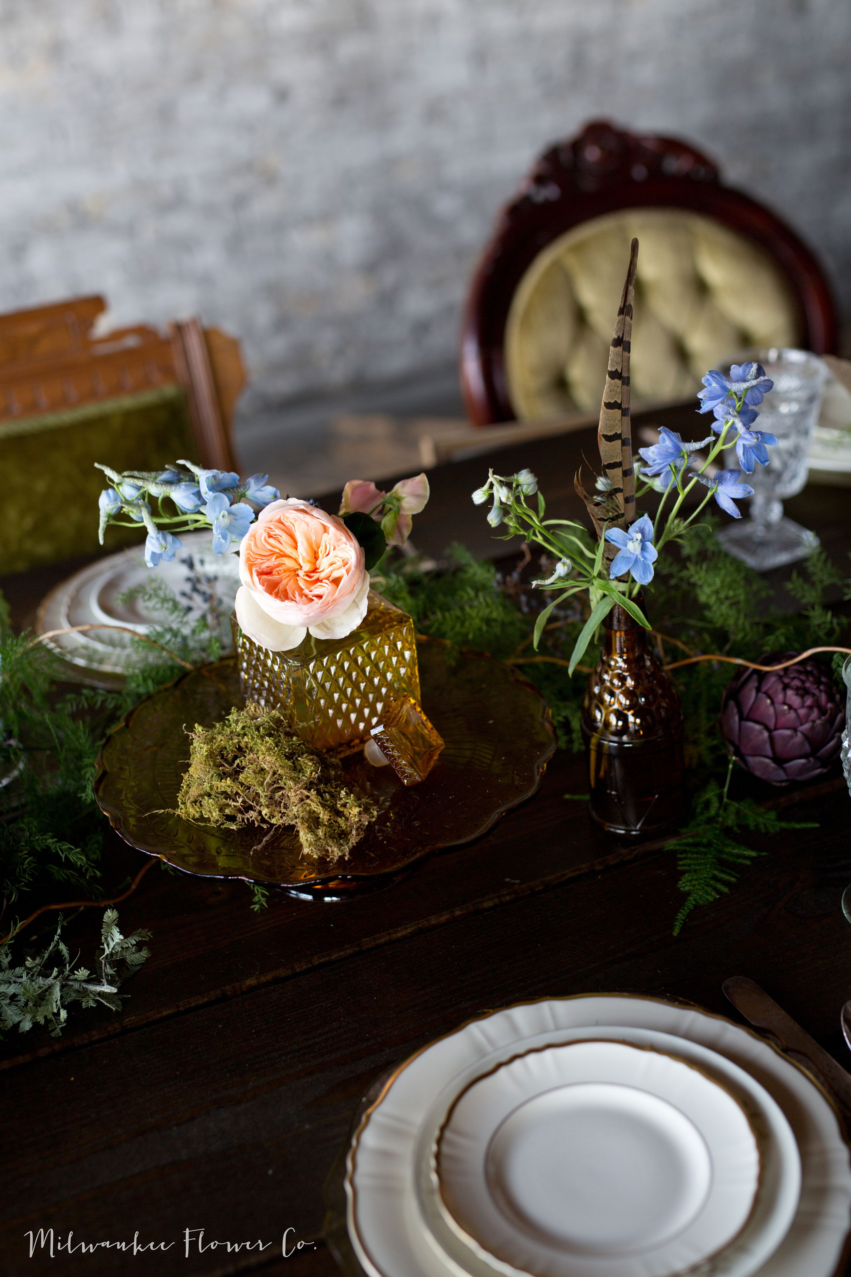 Designed + Styled by Milwaukee Flower Co. centerpiece