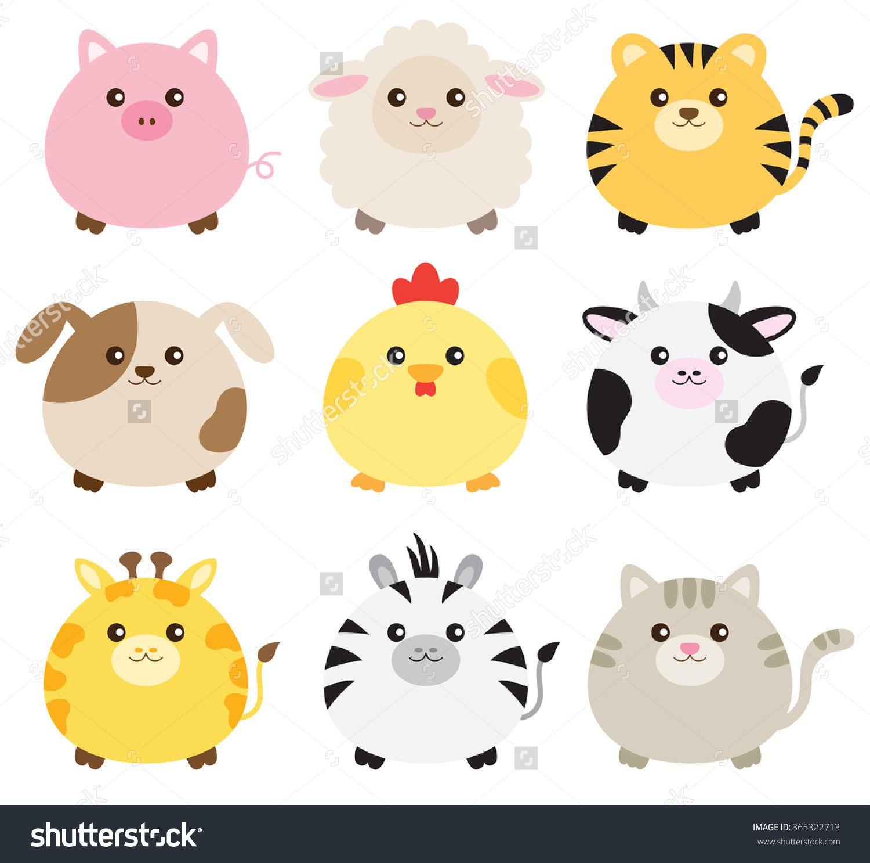 Cute Animal Clipart Set: Mega-pack of 20 cute animal vector graphics ...