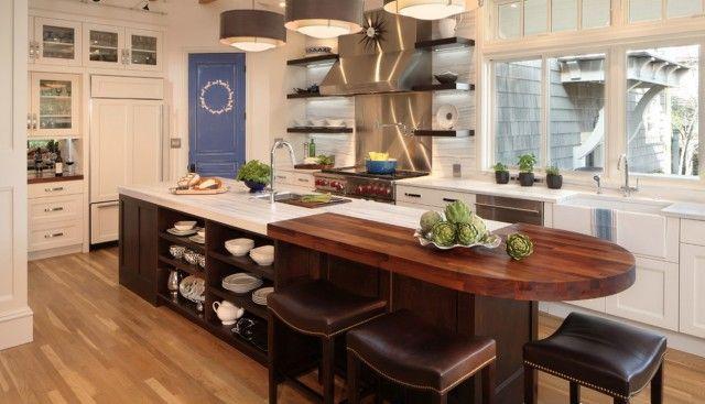 Round End Table Kitchen Design Chic Kitchen Kitchen Island With Seating Custom Kitchen Island