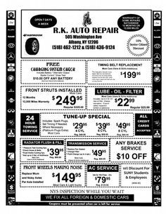 Auto repair shop flyers example advertising ideas pinterest auto repair shop flyers example fandeluxe Images