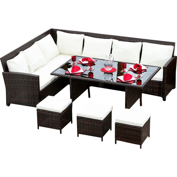 sofa pads uk safavieh miller 9 seater rattan effect set garden inspo furniture hokku designs with cushions wayfair co