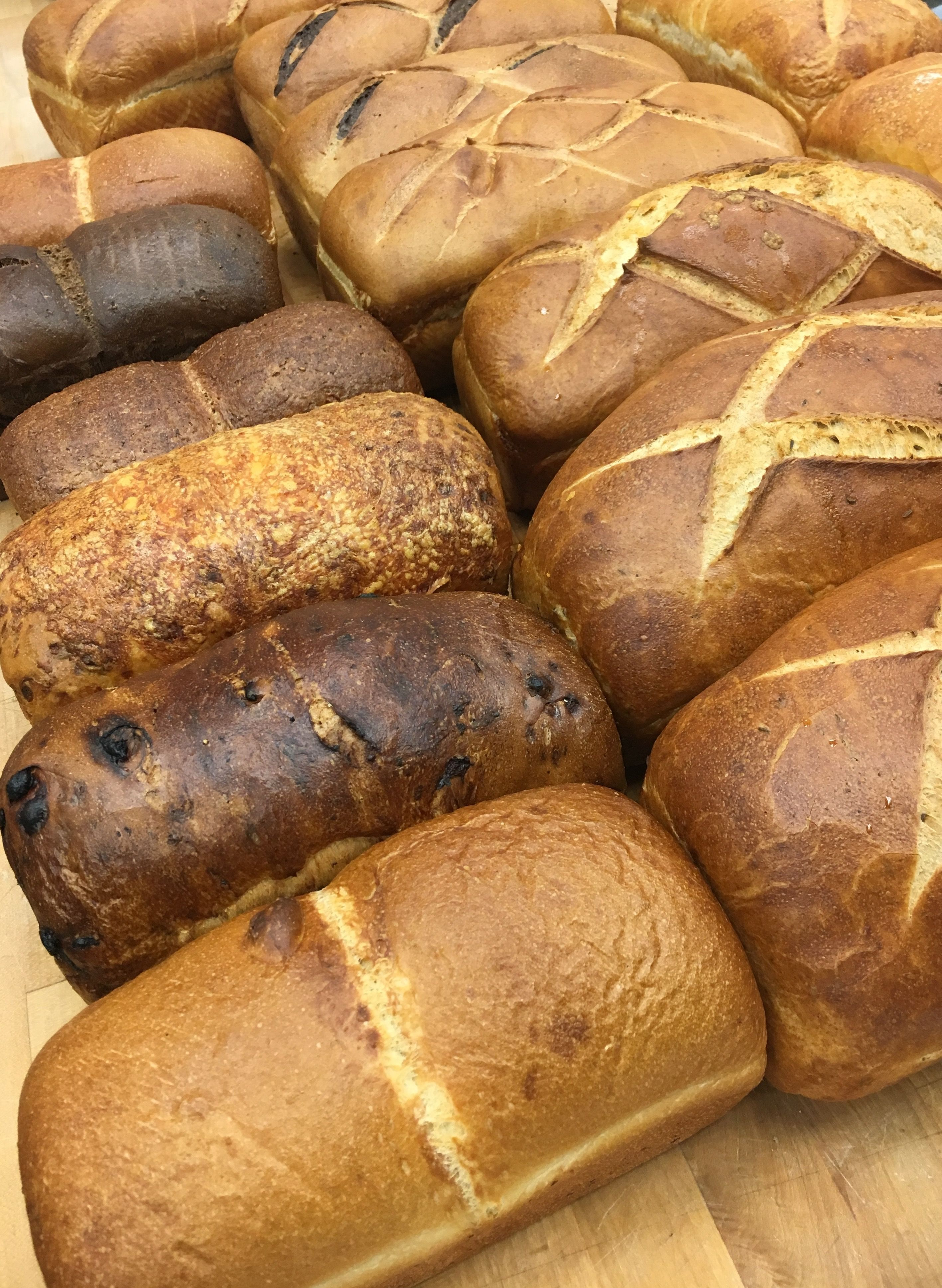 Hot fresh bread from our bakery! Baked fresh every day! Oh