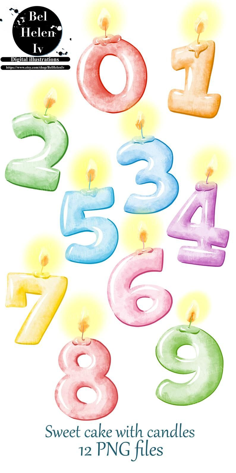 39++ Birthday candle numbers clipart ideas