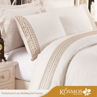 KOSMOS Polycotton Embroidery Lace Bed Sheets Wholesale Bulk Bedding  Https://app.alibaba
