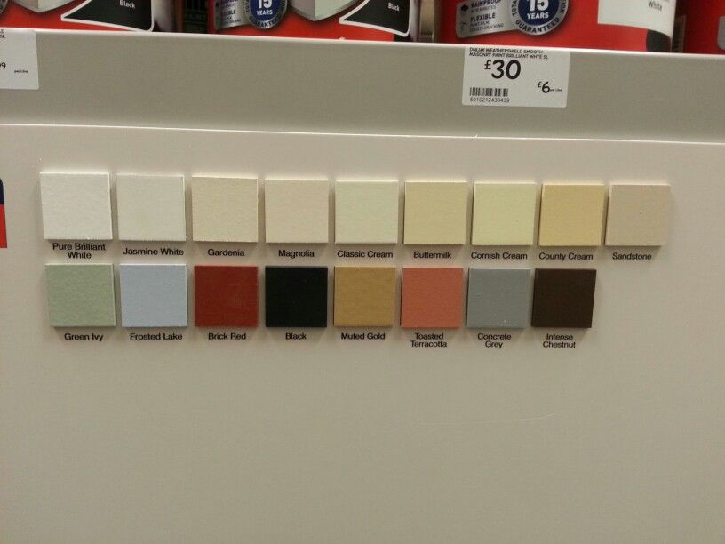 B Q Dulux Weathershield Exterior Paint Options Exterior