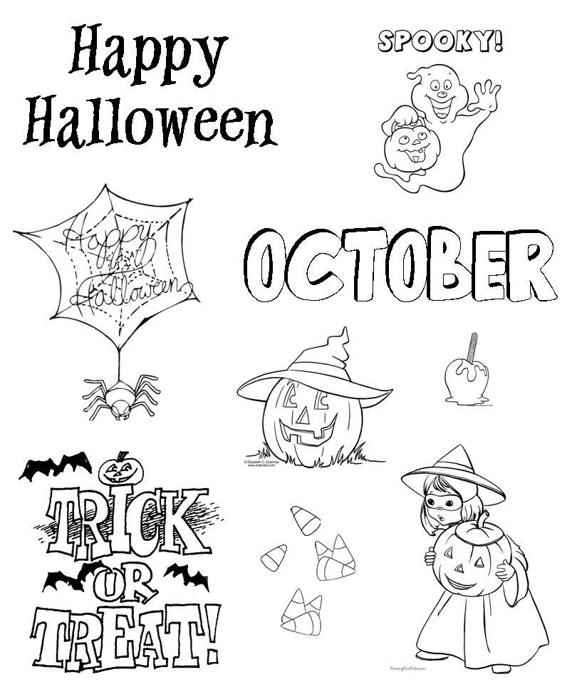 Halloween coloring images printable | Halloween | Pinterest