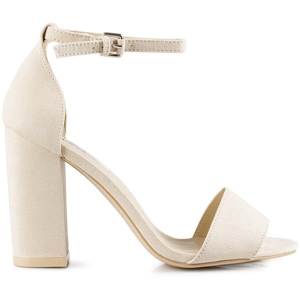713f89c864 Nly Shoes Block Heel Sandal (17 BHD) ❤ liked on Polyvore featuring shoes,  sandals, heels, sapatos, nude, party shoes, womens-fashion, heeled sandals,  ...