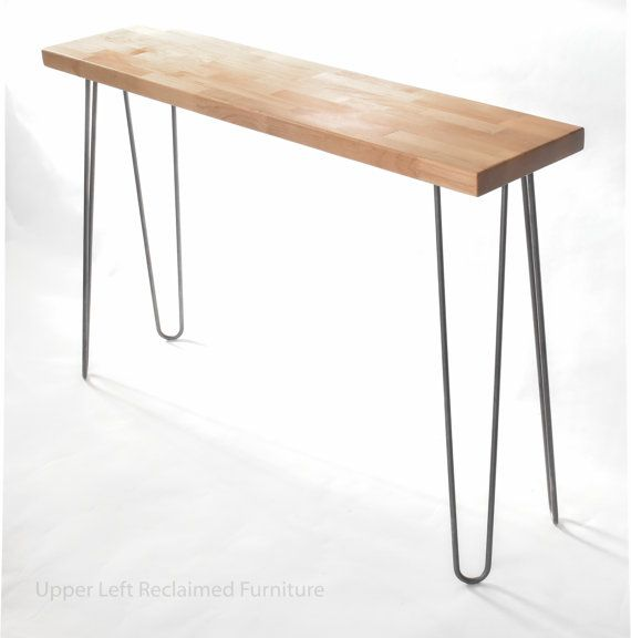 midcentury inspired console table mid century entry table sofa table or