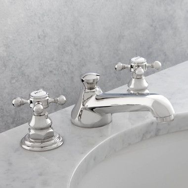 Photo of Astor Two Handle Widespread Bathroom Faucet with Drain