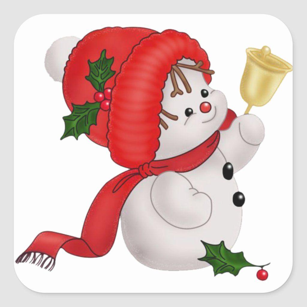 Happy Snowman Sticker Zazzle Com Christmas Clipart Free Christmas Graphics Christmas Clipart
