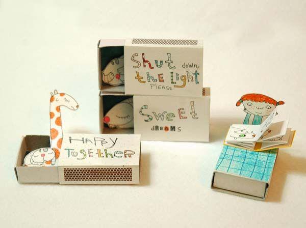 Mini Matchbox Homes: little party invites? Fairies? endless possibilities...
