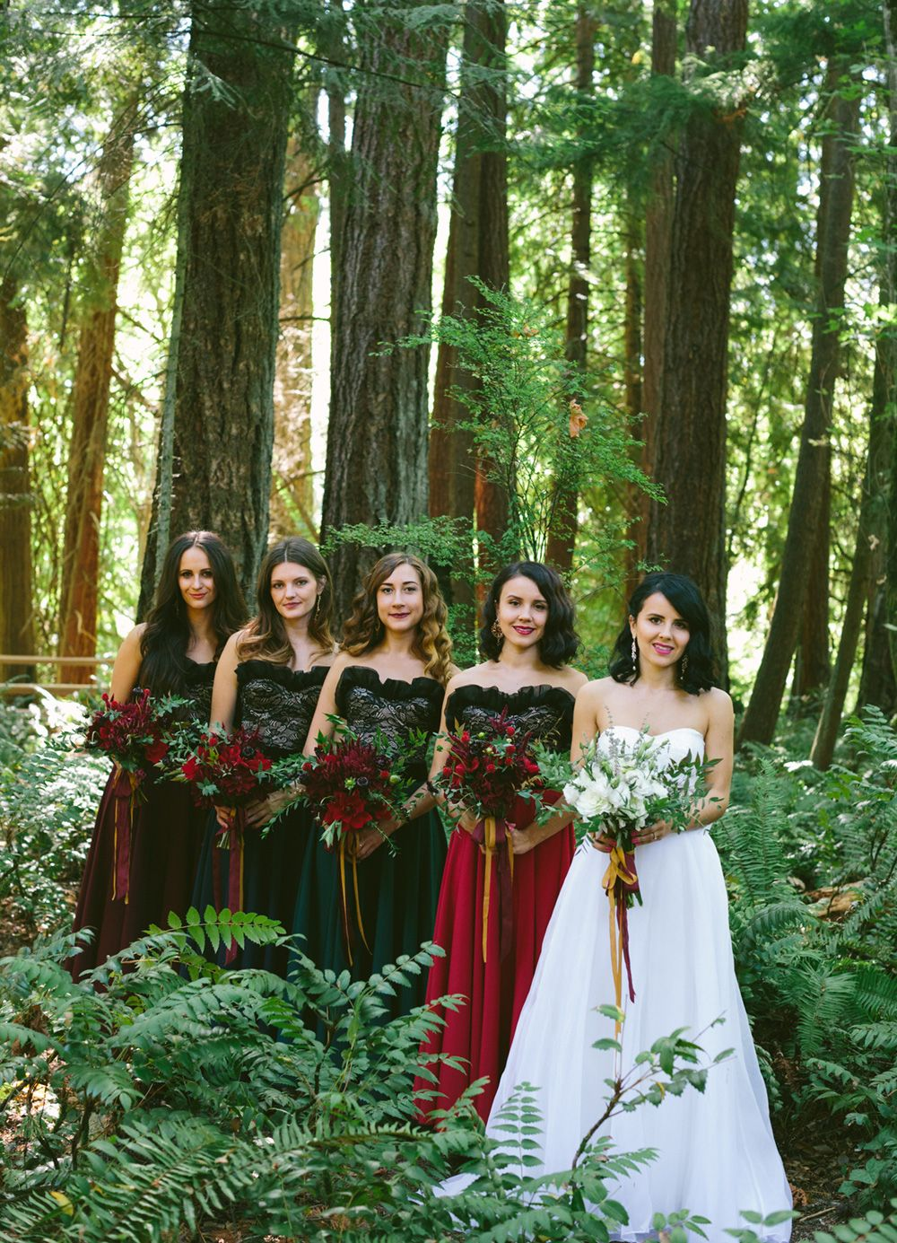Russian wedding in the woods different colored bridesmaid russian wedding in the woods different colored bridesmaid dresses jane in the ombrellifo Gallery