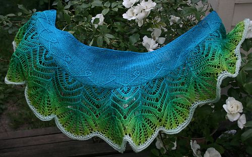 Primavera Shawlette Pattern By Jane Arajo Sjl Pinterest