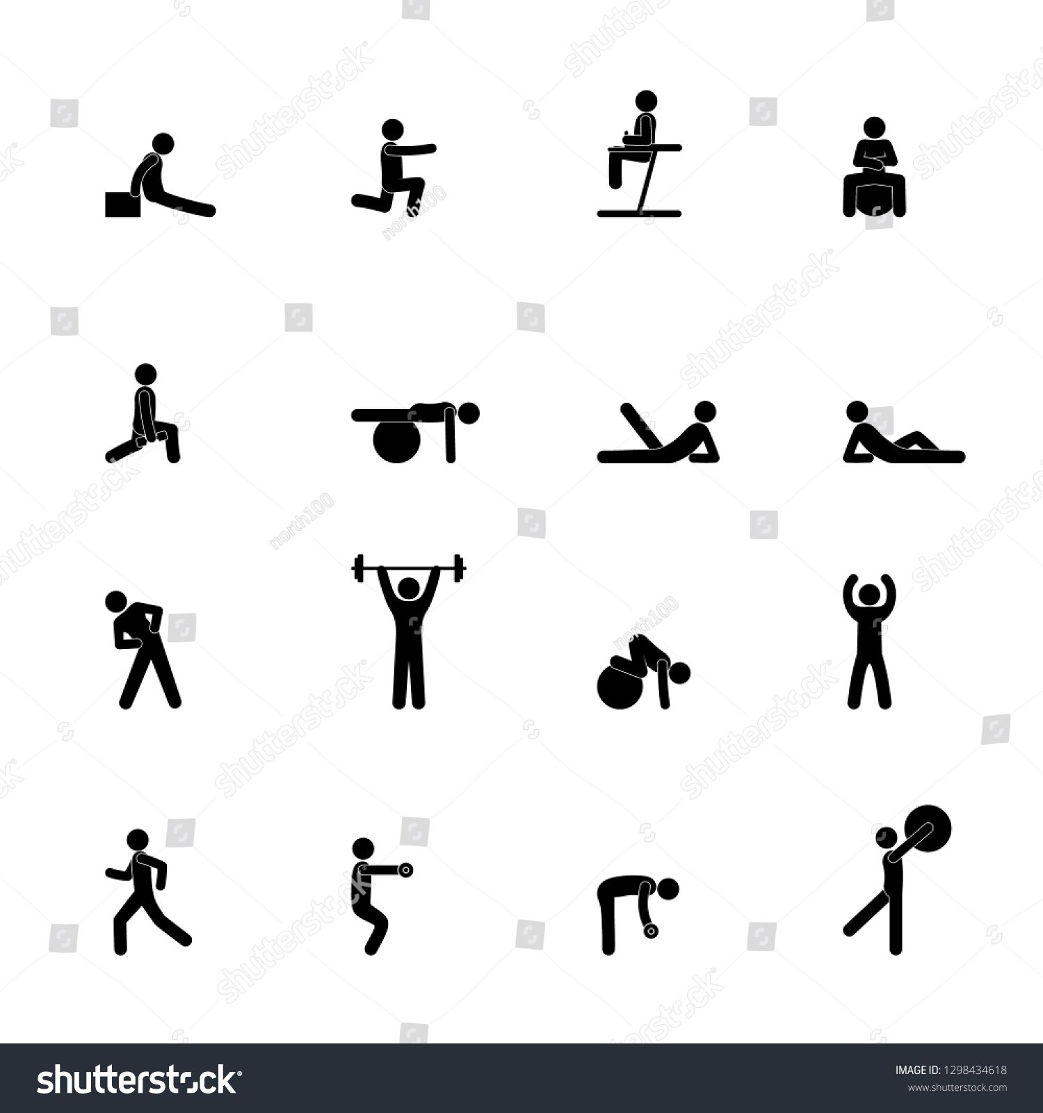 stick figure fitness, pictogram people, gym, man sport icon #Sponsored , #affiliate, #fitness#pictog...