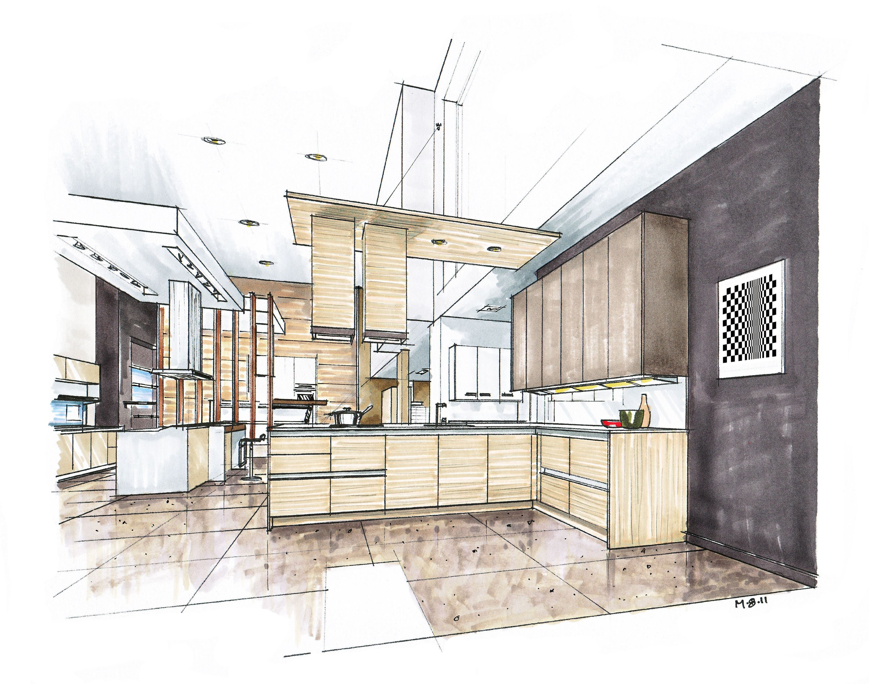 Inspirational Kitchen Marker Rendering Google Search Interior Architecture Design Interior Rendering Architecture Design