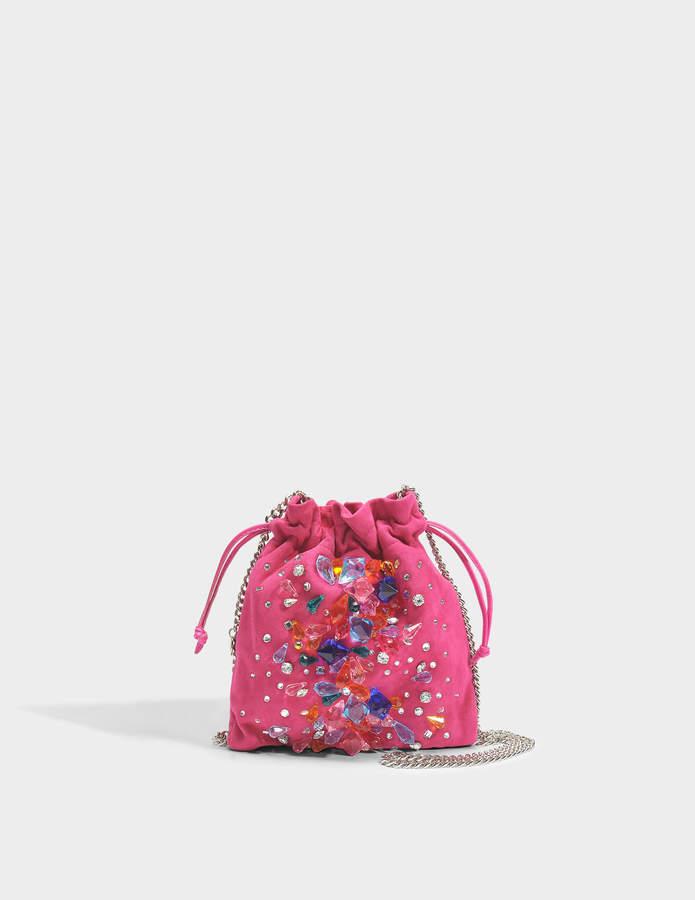 Tie Clutch with Jewels in Pink Leather Giuseppe Zanotti Bqh4J8tEN